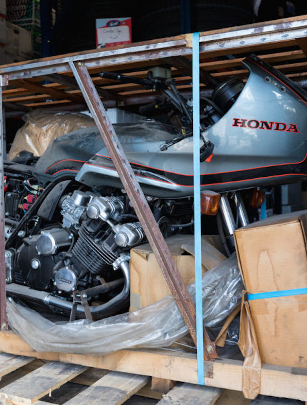 Still in the Crate:  1981 Honda CBX SuperSport